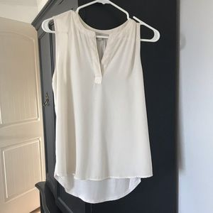 Loft Sheer V-neck Tank - Cream - Size MP